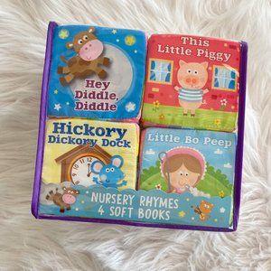 Baby Nursery Rhymes 4 Soft Cloth Books New In Box
